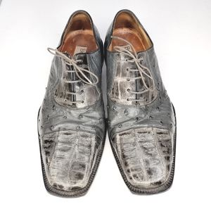 Belvedere Genuine Crocodile And Ostrich Shoes
